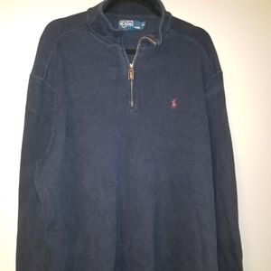 VINTAGE POLO by RALPH LAUREN Navy Blue Sweater XL